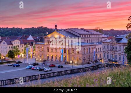 Abendrot, Landestheater, Schlossplatz, Coburg, Oberfranken, Franken, Bayern, Deutschland - Stock Photo