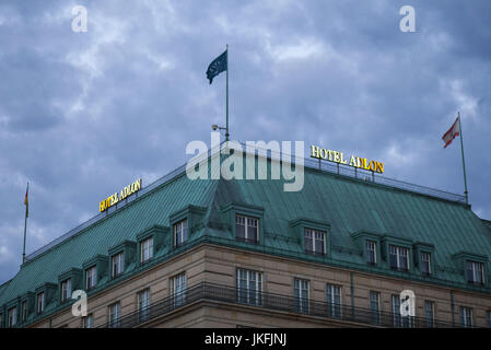 Berlin, Germany. 24th July, 2017. A view of Adlon Hotel, at Berlin's Parizer Platz, July 23, 2017. Credit: Omer - Stock Photo