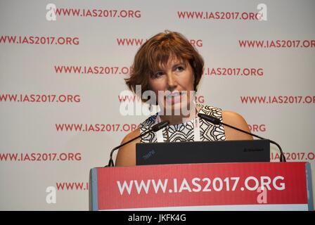 Paris, France, IAS, International AIDS Society Meeting, Sheena McCormick, London Aids PrEP Researcher, Making an - Stock Photo