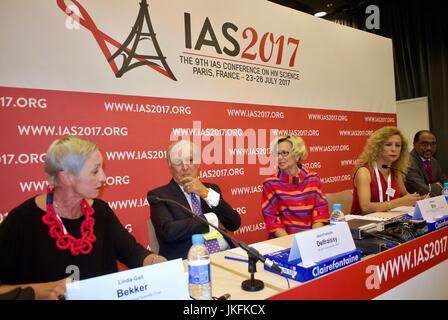 Paris, France, IAS, International AIDS Society Meeting, Linda-Gail Bekker, Desmond Tutu HIV Centre, South Africa - Stock Photo
