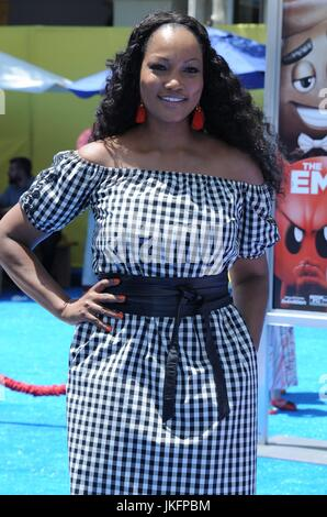 Garcelle Beauvis at arrivals for THE EMOJI MOVIE Premiere, Regency Village Theatre, Los Angeles, CA July 23, 2017. - Stock Photo