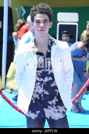 Cameron Boyce at arrivals for THE EMOJI MOVIE Premiere, Regency Village Theatre, Los Angeles, CA July 23, 2017. - Stock Photo
