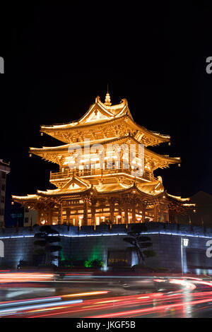 The Guilin Tower is  located in the heart of downtown Guilin City.  Guangxi Province of China - Stock Photo