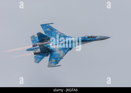 Ukrainian SU-27 Flanker RIAT 2017 - Stock Photo