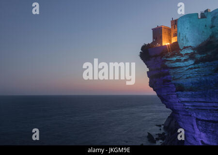 Ville Haute, Bonifacio, Corsica, France - Stock Photo