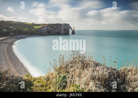 France, Normandy Coast, Etretat, France, Europe - Stock Photo
