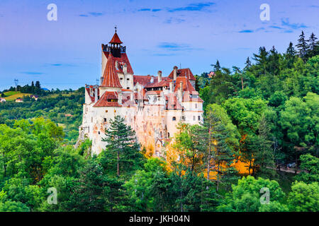 Brasov, Transylvania. Romania. The medieval Castle of Bran, known for the myth of Dracula. - Stock Photo