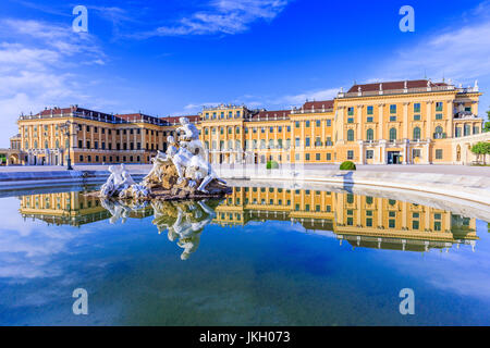 Vienna, Austria - 28 June, 2016: Schonbrunn Palace. The former imperial summer residence is a UNESCO World Heritage - Stock Photo