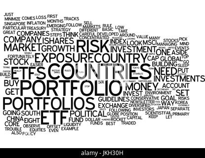 EIGHT RULES FOR ETF SUCCESS Text Background Word Cloud Concept - Stock Photo