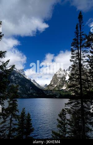 Jenny Lake, Cascade Canyon, Grand Tetons National Park - Stock Photo