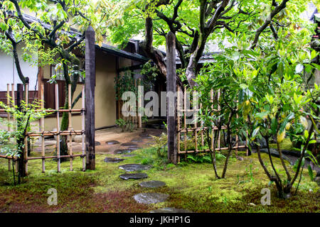 Garden Path in Kyoto, Japan - Stock Photo