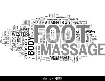 FOOT MASSAGE Text Background Word Cloud Concept - Stock Photo