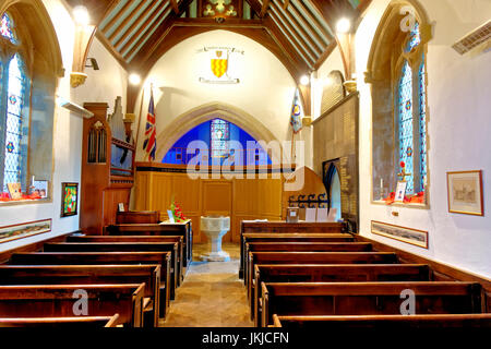 An interior view of St Lawrence Chapel in Warminster, Wiltshire, United Kingdom. - Stock Photo