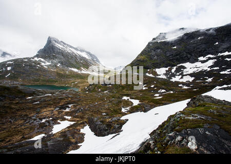 Norwegian mountainscape - Stock Photo