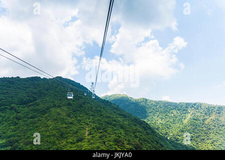 Hong kong cable car to ngong ping lantau island - Stock Photo