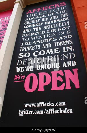 Afflecks Palace - Manchester  - Sign outside - Stock Photo