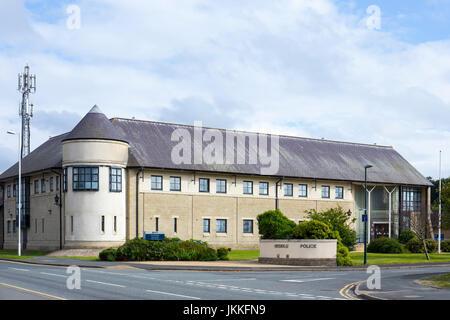 Police station in Aberystwyth Ceredigion Wales UK - Stock Photo