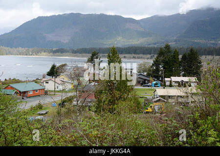 The Pacific coastal town of Port Renfrew, near one end of the West Coast Trail, Vancouver Island, British Columbia, - Stock Photo