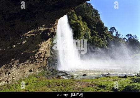 Landscape of Hunua Falls in the North Island of New Zealand. - Stock Photo