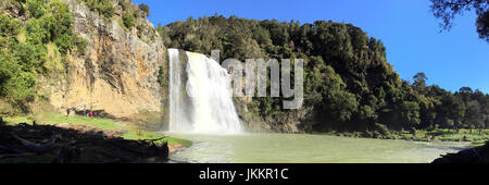 Panoramic Landscape of Hunua Falls in the North Island of New Zealand. - Stock Photo
