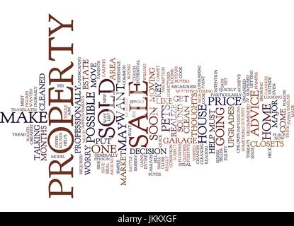FROM FOR SALE TO SOLD Text Background Word Cloud Concept - Stock Photo