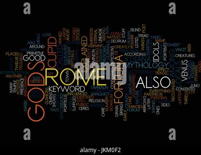 GODS OF ROME Text Background Word Cloud Concept - Stock Photo