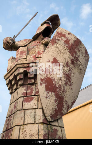 LEAVESDEN, UK - JUNE 19TH 2017: A shot of one of the large chess pieces from the Harry Potter movies, located at - Stock Photo