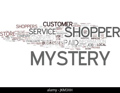 GREAT JOB AS MYSTERY SHOPPER Text Background Word Cloud Concept - Stock Photo