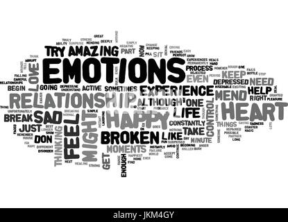 IS IT POSSIBLE TO MEND A BROKEN HEART Text Background Word Cloud Concept - Stock Photo