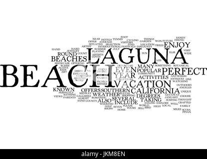LAGUNA BEACH CALIFORNIA Text Background Word Cloud Concept - Stock Photo