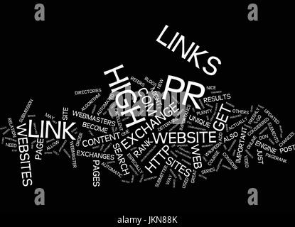 LEARN HOW TO GET HIGH PR LINKS Text Background Word Cloud Concept - Stock Photo