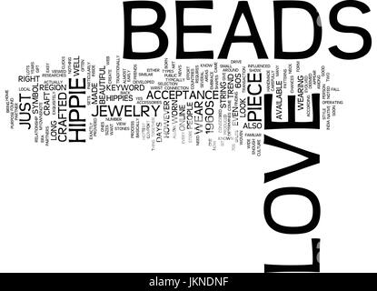 LOVE BEADS Text Background Word Cloud Concept - Stock Photo
