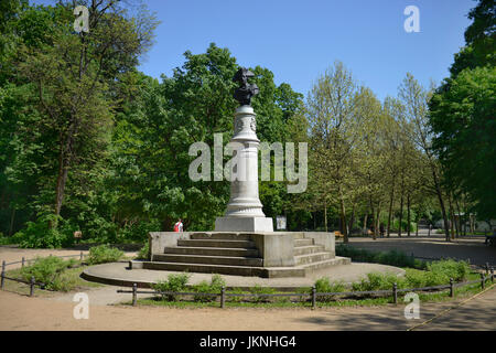 Monument, Friedrich the tallness, national park, Friedrich's grove, Berlin, Germany, Denkmal, Friedrich der Grosse, - Stock Photo