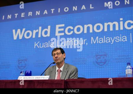 Kuala Lumpur, Malaysia. 24th July, 2017. Maurice Obstfeld, chief economist of the International Monetary Fund (IMF), - Stock Photo