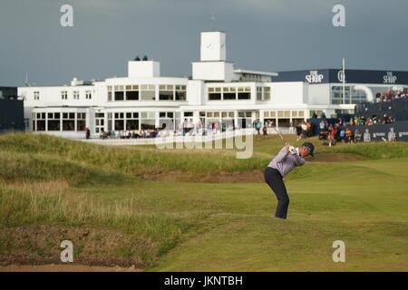 Southport, Merseyside, UK. 22nd July, 2017. Matt Kucher (USA) Golf : Matt Kucher of the United States on the 18th - Stock Photo