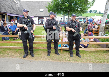 Royal Welsh Show - July 2017 - Armed police officers on patrol at the Royal Welsh Show today as part of the additional - Stock Photo