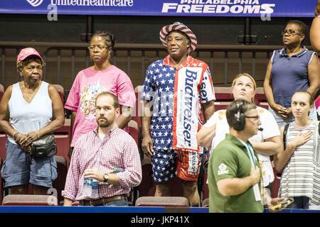 Philadelphia, Pennsylvania, USA. 24th July, 2017. Tennis fans at St. Joseph's Hagen Arena in Philadelphia PA. Credit: - Stock Photo