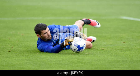 Brighton And Australia goalkeeper Maty Ryan during the Friendly match between Crawley Town and Brighton and Hove - Stock Photo