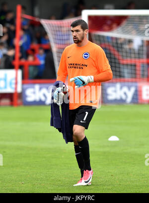Maty Ryan of Brighton during the Friendly match between Crawley Town and Brighton and Hove Albion at the Checkatrade - Stock Photo