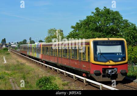 City railroad, Wedding, Berlin, Germany, S-Bahn, Deutschland - Stock Photo