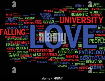 THE PATHOLOGY OF LOVE Text Background Word Cloud Concept - Stock Photo