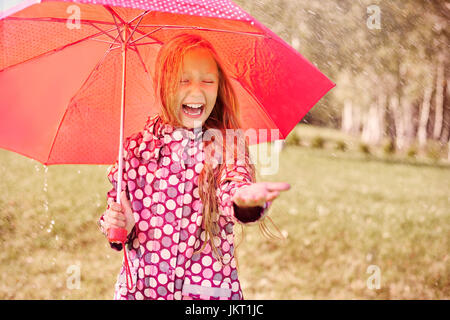 Rain doesn't have to be something unpleasant - Stock Photo