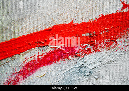 Red Paint Stroke. Photography by Kim Craig. - Stock Photo