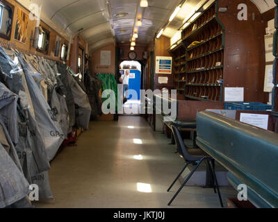 Interior of Royal Mail Travelling Post Office - Stock Photo