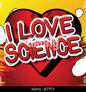 Download We love science poster illustration Stock Vector Art ...