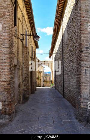 Bevagna (Umbria, Italy) -  A beautiful and charming medieval village in the heart of the Umbria Region - Stock Photo