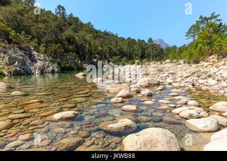 Solenzara Gorge, Sari-Solenzara, Corsica, France - Stock Photo
