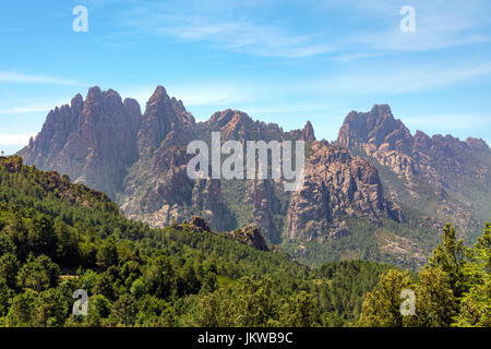 Aiguilles de Bavella, Parc naturel regional de Corse, Corsica, France - Stock Photo