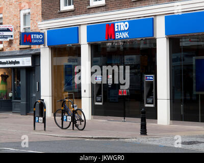 Metro Bank PLC, United Kingdom retail bank founded by Vernon Hill in 2010 - Stock Photo