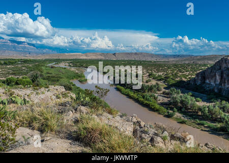 Rio Grande River in Big Bend National Park - Stock Photo